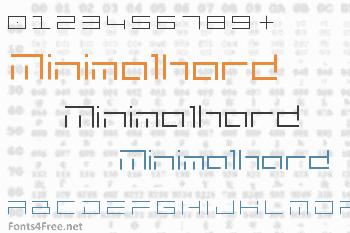 Minimalhard Font