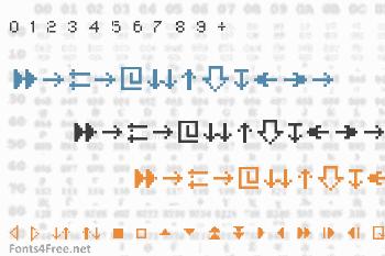 MiniStrzalki Font