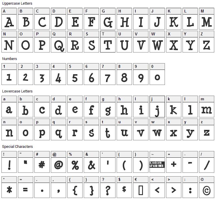 Minya Nouvelle Font Character Map