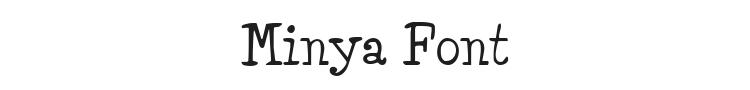 Minya Font Preview
