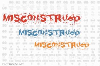 Misconstrued Font