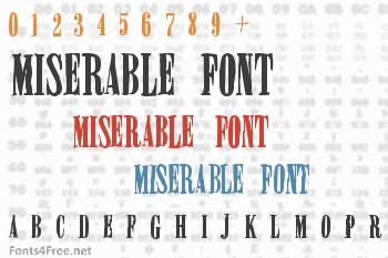 Miserable Font