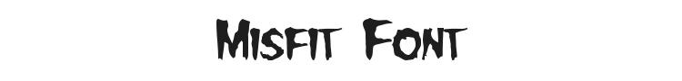 Misfit Font Preview