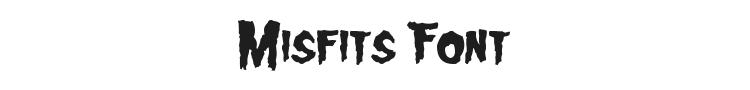 Misfits Font Preview