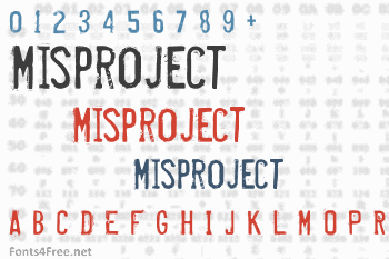 Misproject Font