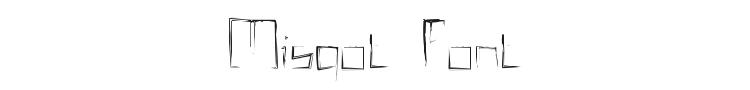 Misqot Font Preview