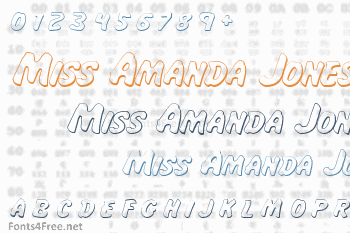 Miss Amanda Jones Font