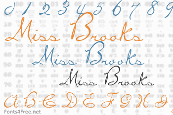 Miss Brooks Font
