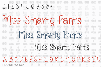 Miss Smarty Pants Font