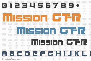 Mission GT-R Font