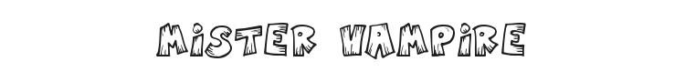 Mister Vampire Font Preview