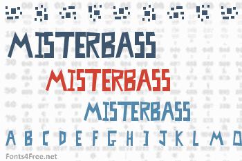 MisterBass Font