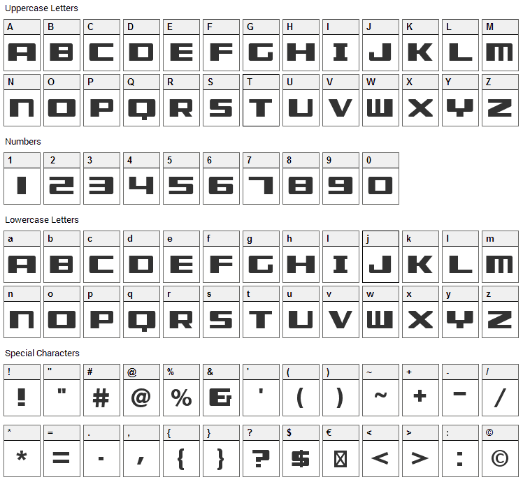 Misuse Font Character Map