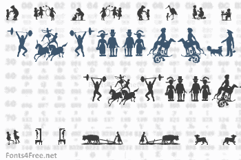 Mixed Silhouettes Five Font