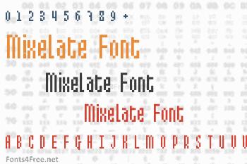 Mixelate Font