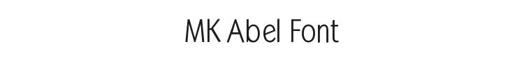 MK Abel Font Preview
