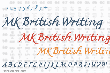 MK British Writing Font