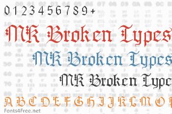 MK Broken Types Font