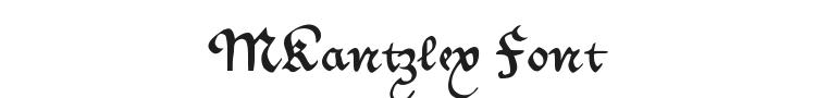 MKantzley Font Preview