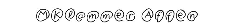 MKlammer Affen Font Preview