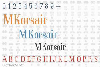 MKorsair Font