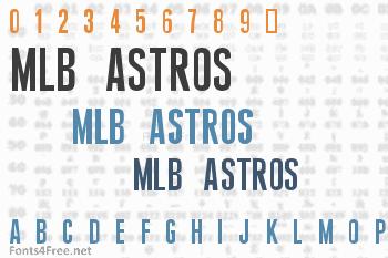 MLB Astros Font