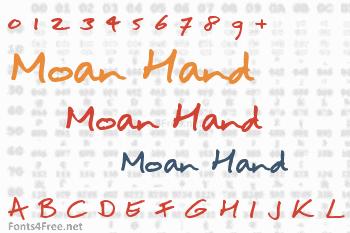 Moan Hand Font