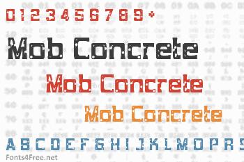 Mob Concrete Font