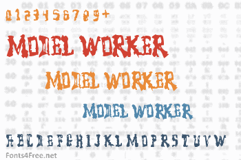 Model Worker Font
