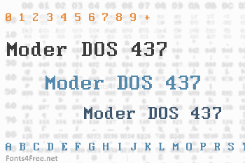 Moder DOS 437 Font