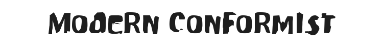 Modern Conformist Font Preview