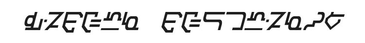 Modern Destronic Font Preview