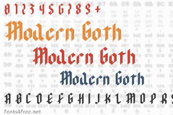 Modern Goth Font