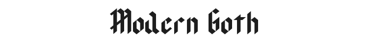 Modern Goth Font Preview