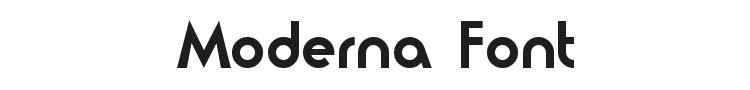 Moderna Font Preview