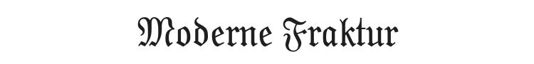 Moderne Fraktur Font Preview