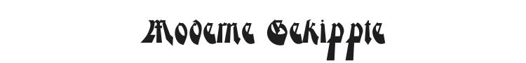 Moderne Gekippte Schwabacher Font Preview