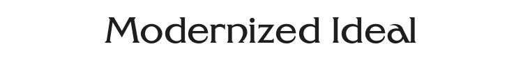Modernized Ideal Classic Font