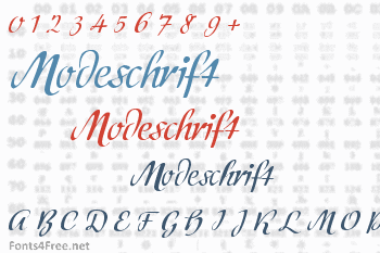 Modeschrift Font