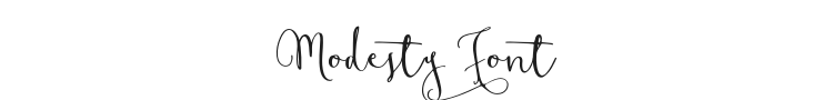 Modesty Font Preview