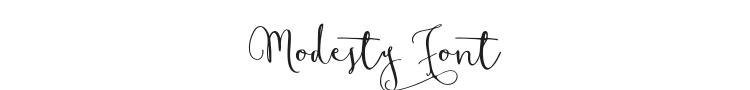 Modesty Font