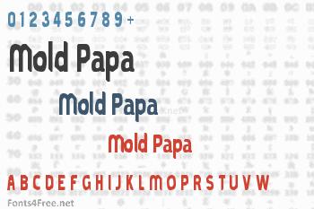 Mold Papa Font