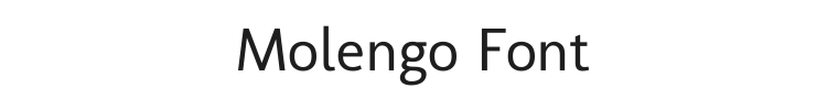Molengo Font Preview
