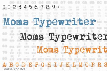 Moms Typewriter Font