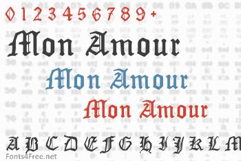 Mon Amour Fraktur Broken Font