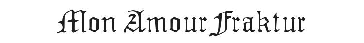 Mon Amour Fraktur Font Preview