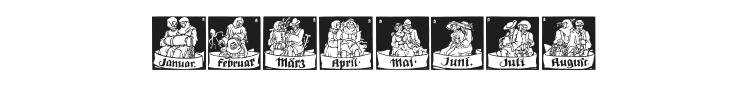 Monats Vignetten Font
