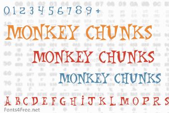 Monkey Chunks Font