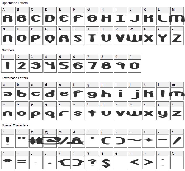 Monkey Phonics Font Character Map