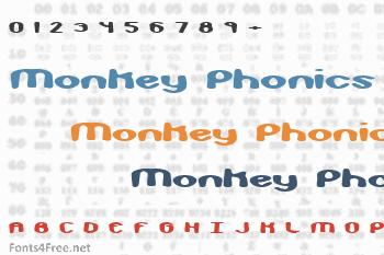Monkey Phonics Font